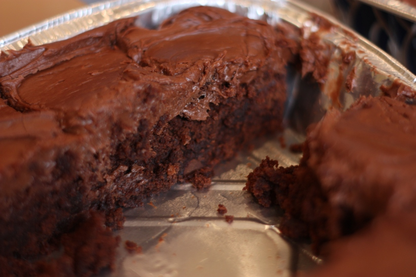 Oh yeah, right there. Soft and moist and a bit cake-like, a perfect mix, with chocolate frosting on the top, creating an amazing texture.