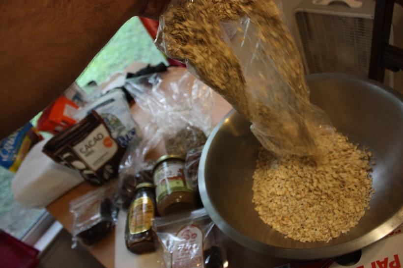 A HUGE bag of oats. DUMP IT ALL IN!